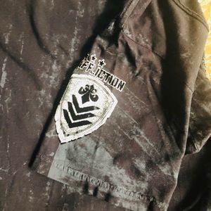 Affliction Shirts - Men's AFFLICTION Short Sleeve Tee Black LARGE
